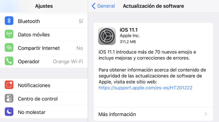 iOS 11.1 ya está aquí