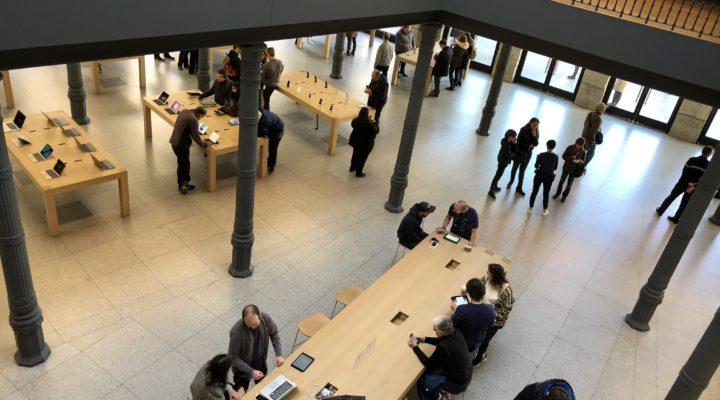 Apple Store de Sol una semana después.