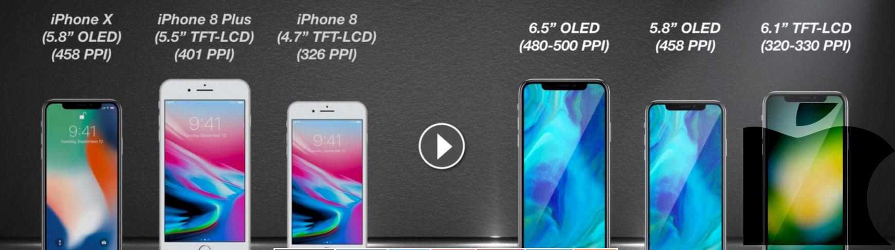 Tres nuevos modelos de iPhone X en 2018