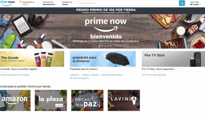Amazon Prime Now sube el precio.