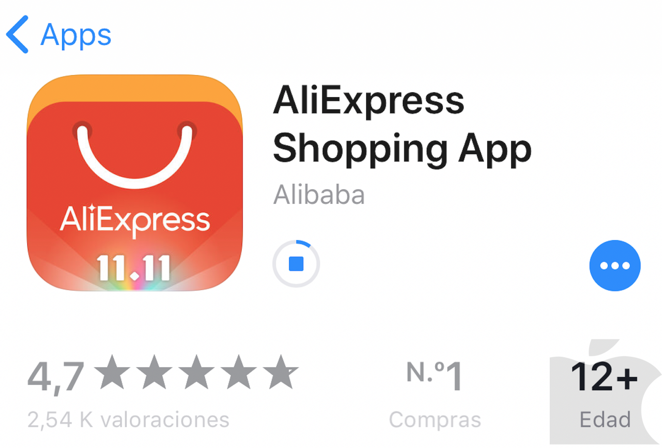 Fallo en la App Store con iPhone X