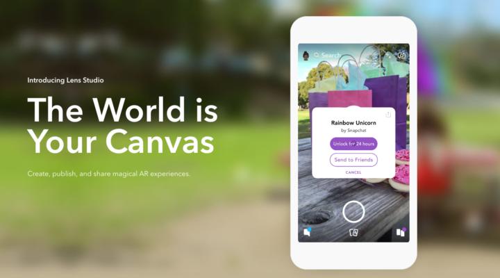 Lens Studio una app de Snapchat abierta a desarrolladores para creación de lentes