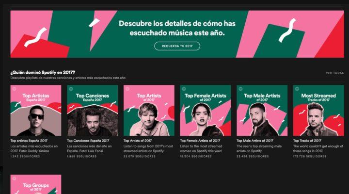 Tu resumen de Spotify en 2017