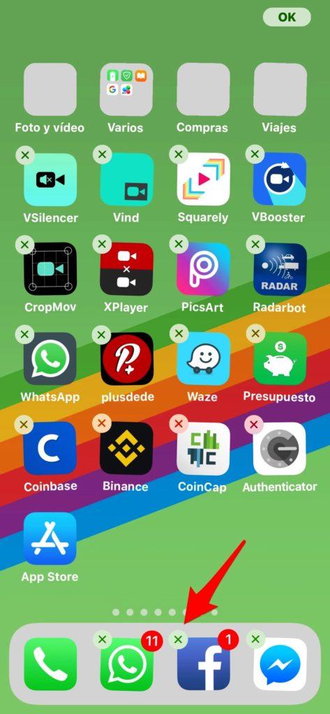 Mover varios iconos a la vez en tu iPhone o iPad en iOS 11