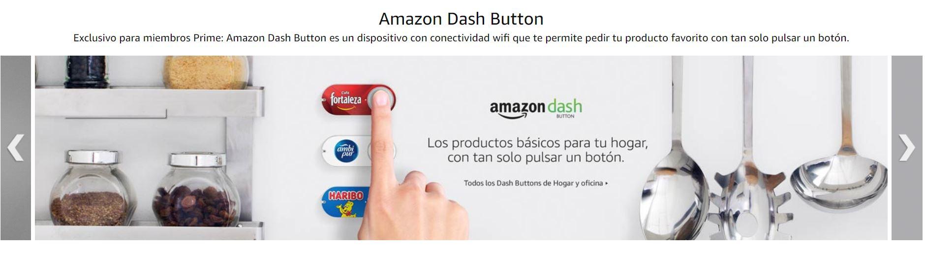 6 nuevos Dash Button en Amazon Prime España