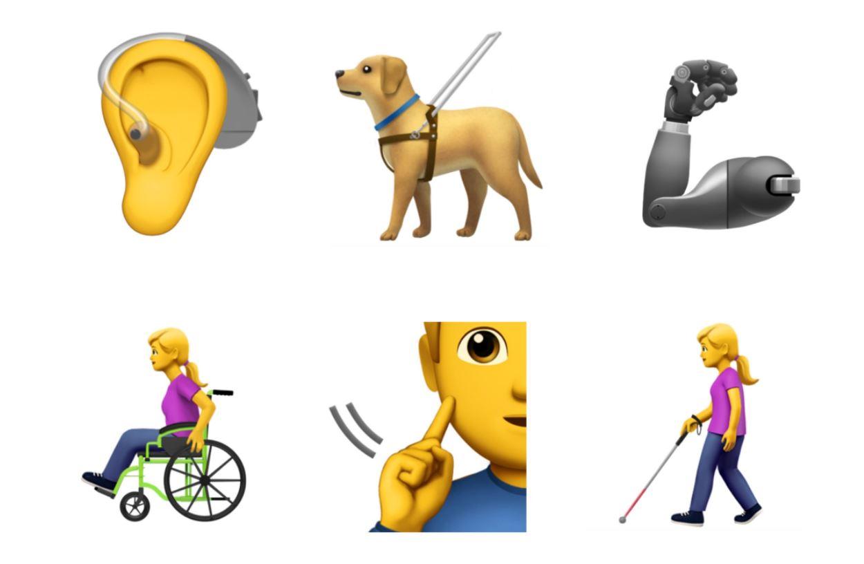 Apple propone emojis de accesibilidad