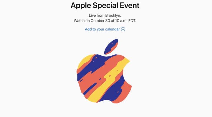 El evento especial de Apple será el 30 de octubre