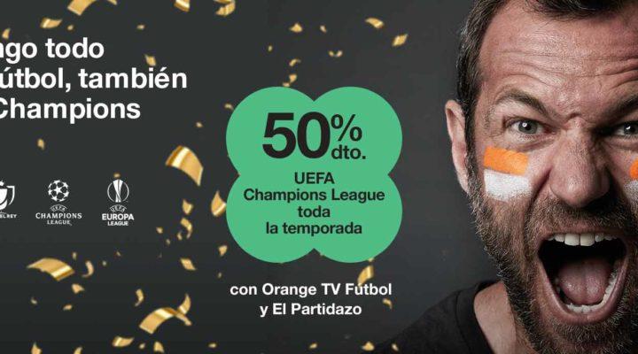 Orange ofrece toda la temporada de la Champions al 50%