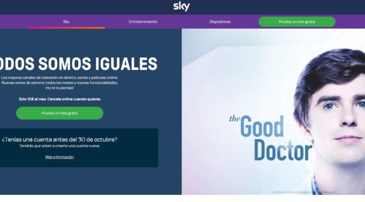Hay que volver a registrarse en Sky España