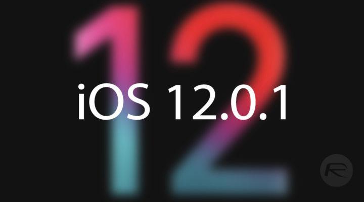 Fallo grave en iOS 12.0.1