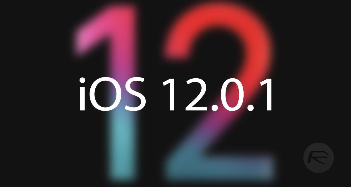 Fallo en el iOS 12.0.1