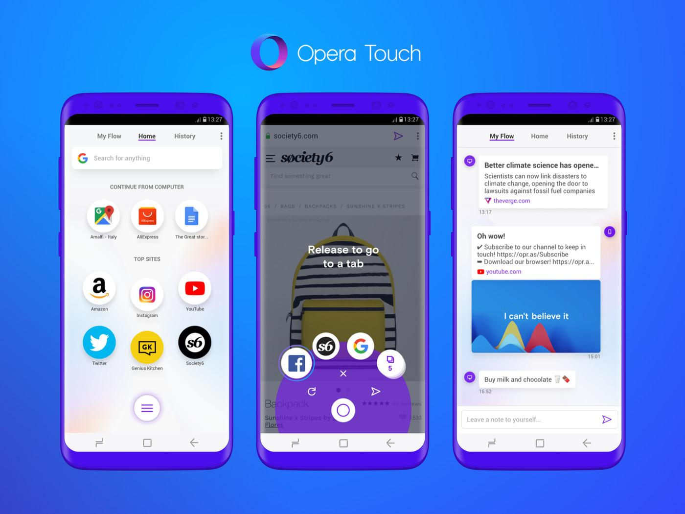 Navegador Opera Touch