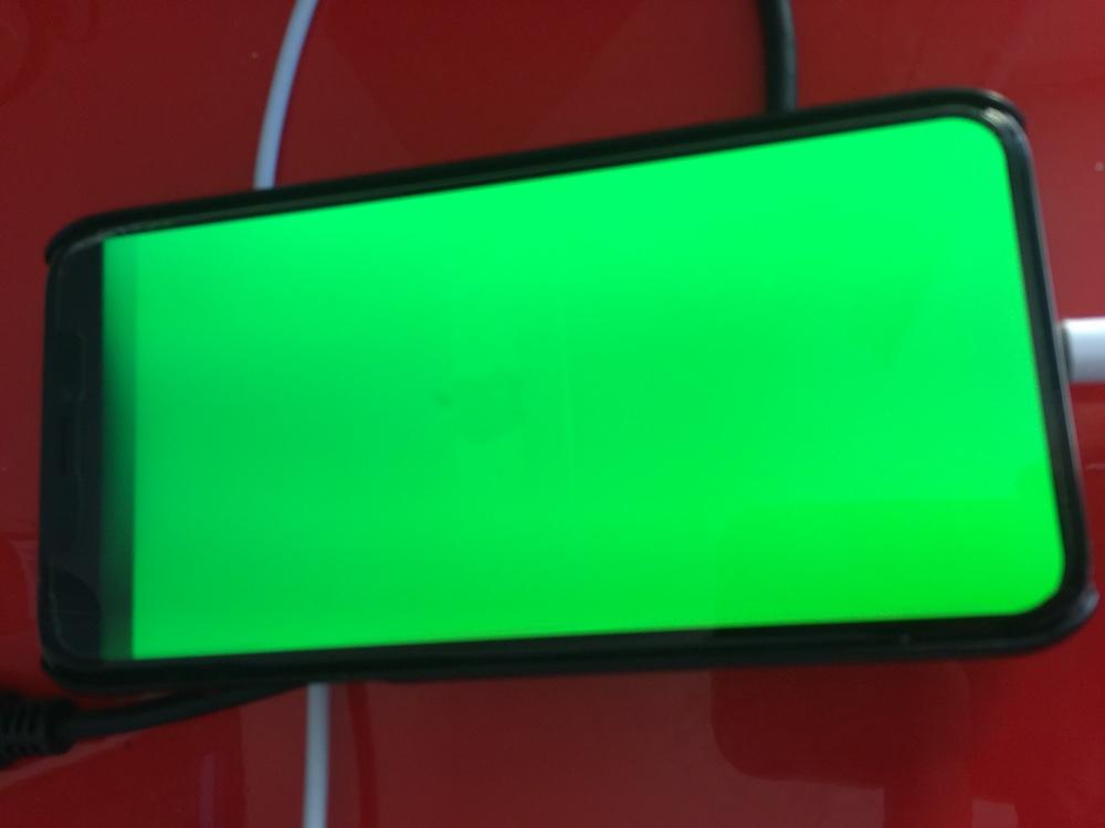 Pantalla verde iPhone X