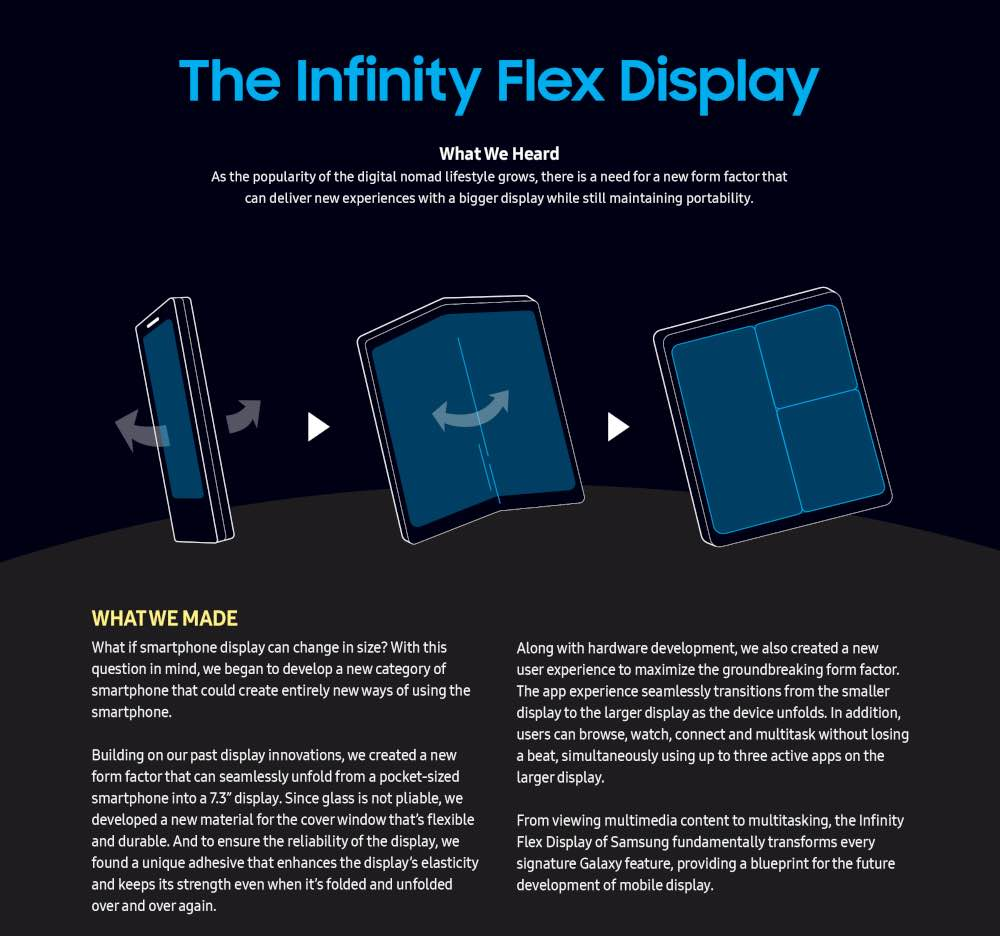 Infinity Flex Display