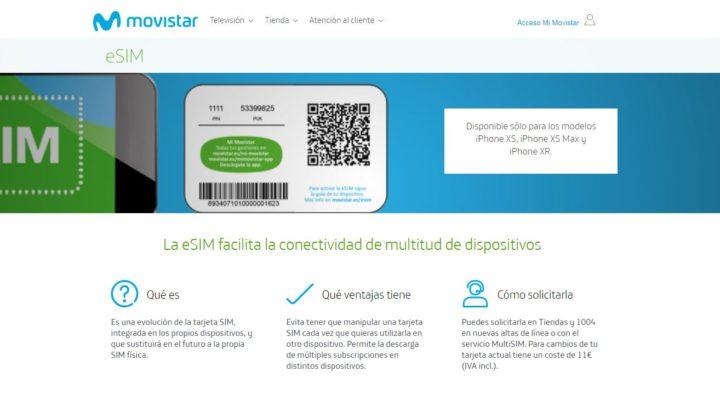 Movistar, el primer operador móvil español en ofrecer esim para el iPhone