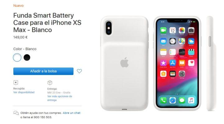 Ya a la venta la Smart Battery Case para iPhone XS, XS Max y XR