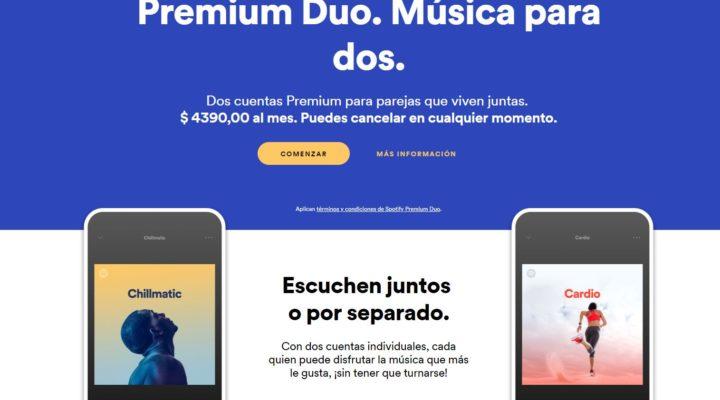 Spotify está lanzando Spotify Duo en algunos países