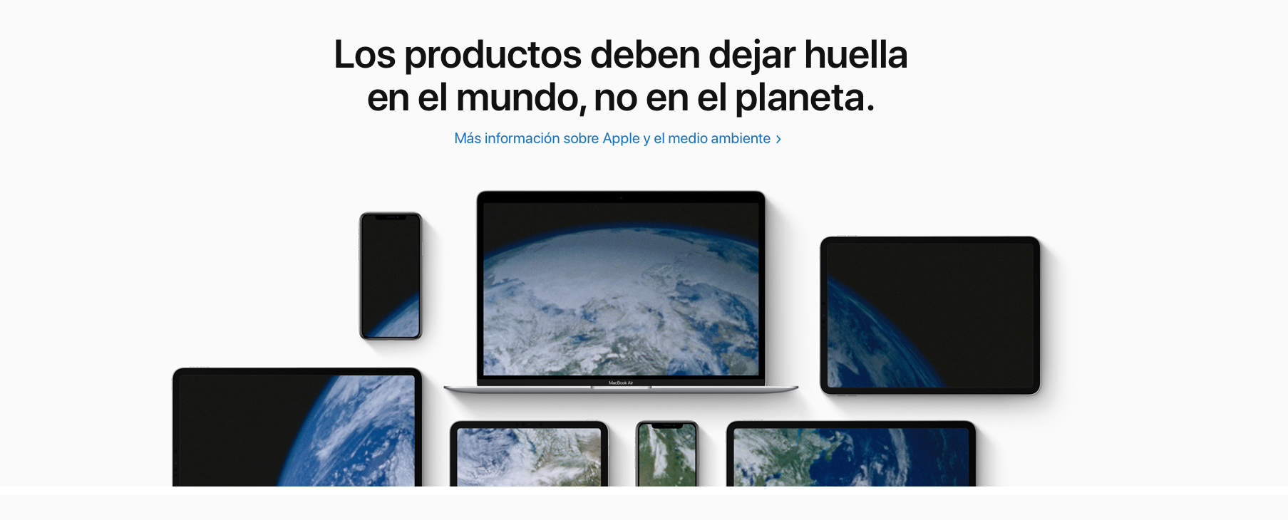 Apple día de la tierra