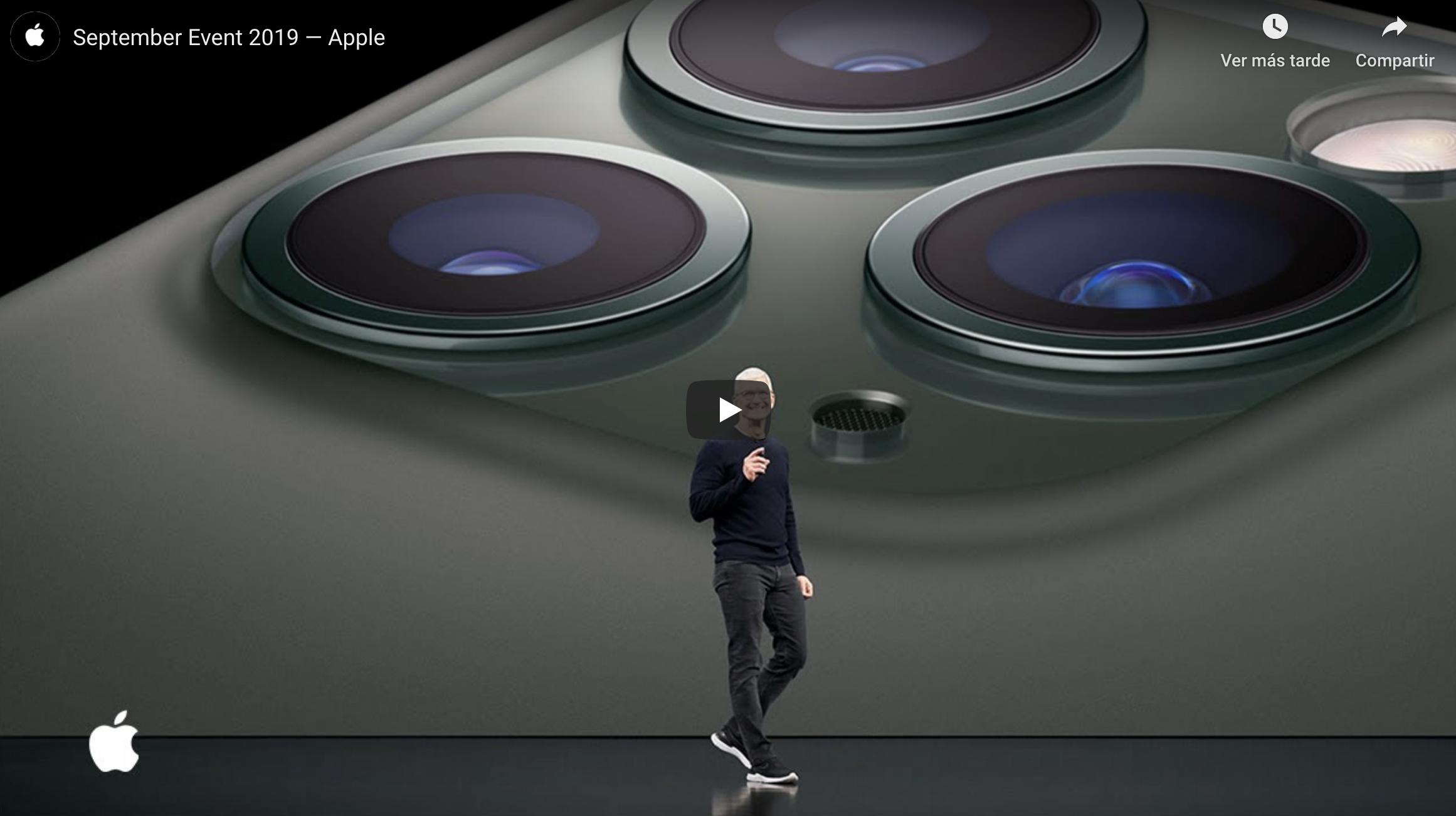 Evento septiembre 2019 Apple